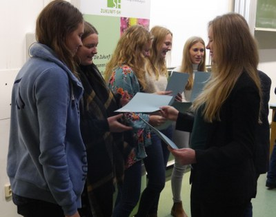 Preisträgerinnen des Landesschülerwettbewerbes